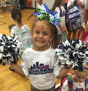 My favorite 6 year old cheerleader