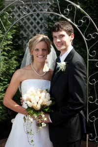 Daniel & I at our wedding in 2009
